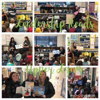 Leadership students read at Upper Lynn elementary